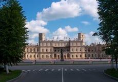 Gatchina Palace. Palace Square and the main entrance. Stock Photo