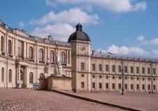 Gatchina Palace. Palace Square and the main entrance. Royalty Free Stock Photo