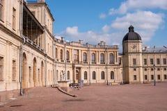 Gatchina Palace. Palace Square and the main entrance. Stock Image