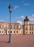 Gatchina Palace. Palace Square and the main entrance. Royalty Free Stock Images