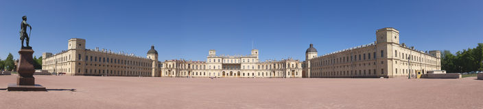 Gatchina palace panorama Royalty Free Stock Photography