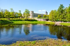 Gatchina palace and park, Russia royalty free stock photography