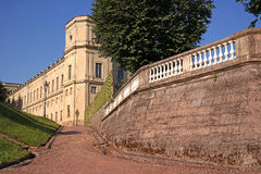 Gatchina Palace. Road rise up along the Gatchina Palace Royalty Free Stock Photos