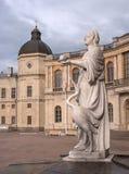 Gatchina Palace. Sculpture at the front door. Stock Image