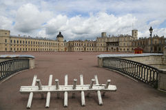 Gatchina palace. View of the Gatchina palace and square in front of it Royalty Free Stock Photos
