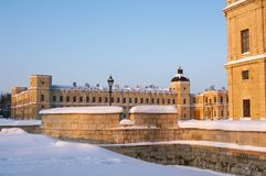 Gatchina palace in winter Royalty Free Stock Images