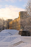 Gatchina-Palast im Winter nahe St. Petersburg, Russland Lizenzfreie Stockbilder