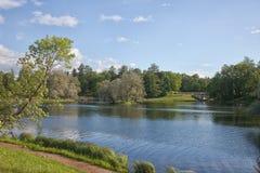 Gatchina Parque grande foto de archivo libre de regalías