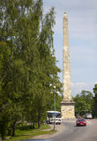 Gatchina Petersburg Russia City square and obelisk Konnetabl, 1793. Gatchina  Petersburg  Russia City square and obelisk Konnetabl, 1793 Stock Photography