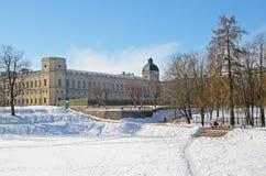 Palácio e parque de Gatchina fotos de stock royalty free