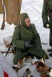 Gatchina, Rusia, el 18 de febrero de 2012: Reconstrucción de la batalla de la Segunda Guerra Mundial Imagen de archivo libre de regalías