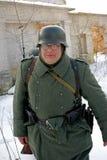 Gatchina, Rusia, el 18 de febrero de 2012: Reconstrucción de la batalla de la Segunda Guerra Mundial Foto de archivo