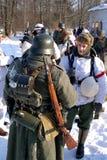 Gatchina, Rusia, el 18 de febrero de 2012: Reconstrucción de la batalla de la Segunda Guerra Mundial Fotografía de archivo