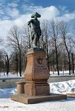 Gatchina, Russia - February 12, 2018: Monument to Russian Emperor Paul I. Winter photo. Gatchina, Russia - February 12, 2018: Monument to Russian Emperor Paul I royalty free stock photography