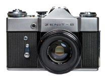 Gatchina, Russia - January 14, 2017: The old Soviet film camera Zenit. Royalty Free Stock Photos