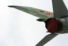 gatchina Russia Naddźwiękowy samolot ustanawiający na cześć pilota Efimov w terenie dokąd używać być 's najpierw zdjęcia stock