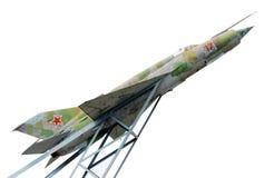 gatchina Russia Naddźwiękowy samolot ustanawiający na cześć pilota Efimov w terenie dokąd używać być 's najpierw zdjęcie stock
