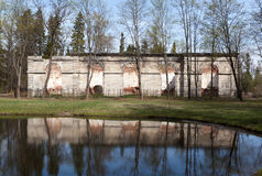 Gatchina Ryssland Forest Conservatory Royaltyfri Fotografi