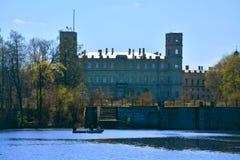 Gatchina slott petersburg russia st Arkivfoto