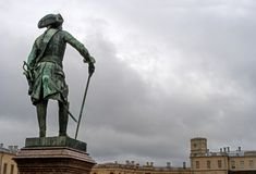 Gatchina, St. Petersburg, Rusland - September 30, 2017: Monument aan Russische Keizer Paul I royalty-vrije stock foto's