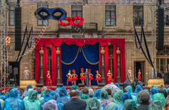 Gatchina, St. Petersburg, Russia - June 18, 2017: Scene from the operetta Mr. X. The presentation took place at the. Gatchina, St. Petersburg, Russia - June 18 stock photo