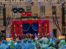 Gatcina, St Petersburg, Russia - 18 giugno 2017: Scena dal sig. di operetta X La presentazione ha avuto luogo al Immagine Stock Libera da Diritti