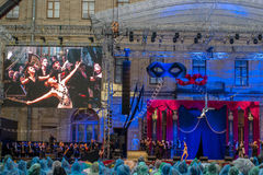 Gatcina, St Petersburg, Russia - 18 giugno 2017: Scena dal sig. di operetta X La presentazione ha avuto luogo al Immagini Stock