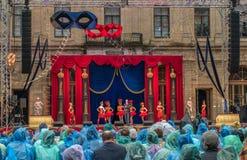Gatcina, St Petersburg, Russia - 18 giugno 2017: Scena dal sig. di operetta X La presentazione ha avuto luogo al Fotografia Stock