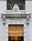 Gate of 100 Broadway, Manhattan, NYC Stock Images