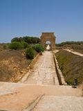 The gate. Gate to the antic Laptis Magna in Lybia Stock Image