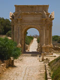 The gate. Gate to the antic,ancient laptis magna in Lybia Royalty Free Stock Photos