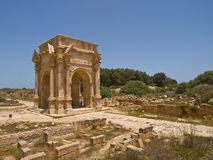 The gate. Gate in Laptis Magna in Lybia Stock Image