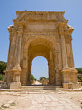 The gate. Gate in Laptis Magna in Lybia Stock Photography