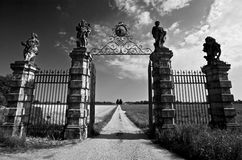 Gate. Of Villa Camerini in Piazzola sul Brenta - Padova (Italy Stock Images