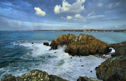 Gate. Erosion on the coastline, high density range image Royalty Free Stock Photography