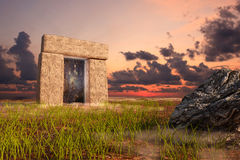The Gate. A fantasy representation of the gate to another world Stock Photos