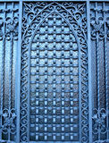 Gate. Wrought-iron gate in Barcelona, Spain Stock Photography