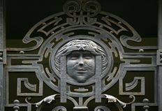 Gate. Metal gate ornament in art nouveau style Royalty Free Stock Images