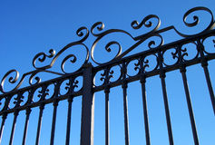 Gate. With wrought-iron decorations, Italy Royalty Free Stock Images