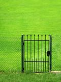 Gate. To the Green Field Royalty Free Stock Photos
