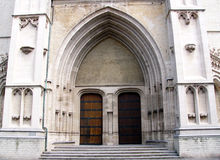Gate 2. Gate of church in mechelen, belgium Stock Photo