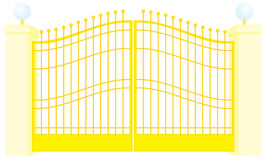 Gate royalty free illustration