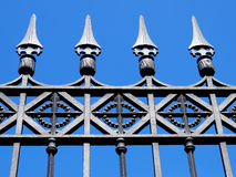 Gate. Old gate with wrought-iron decorations, Italy Stock Photo