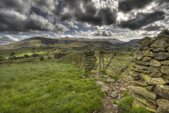 Gate. Castlerigg Stones Clouds Lake District UK Royalty Free Stock Images