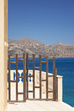 Gate in Agios Nikolaos Stock Images