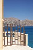 Gate in Agios Nikolaos Stock Images