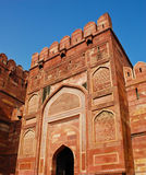 Gate in Agra fort, India Royalty Free Stock Photos