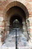 Gate in the Alcazaba of Malaga Stock Photography