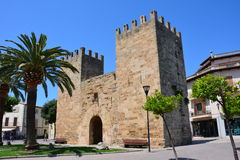 Gate into Alcudia Old town Stock Images
