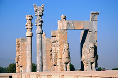 Gate of All Nations. At Persepolis,Iran Stock Images